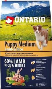 Ontario Puppy Medium Lamb/Rice фото